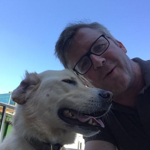 Me and Stella, immediately post-pickup. First Stella selfie.