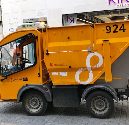 Tiny garbage truck