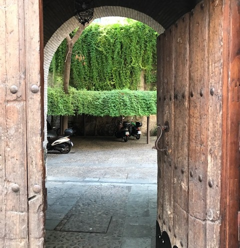 Doorway into the secret garden