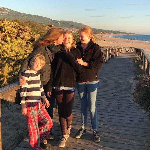 Brook and kids at Bolonia